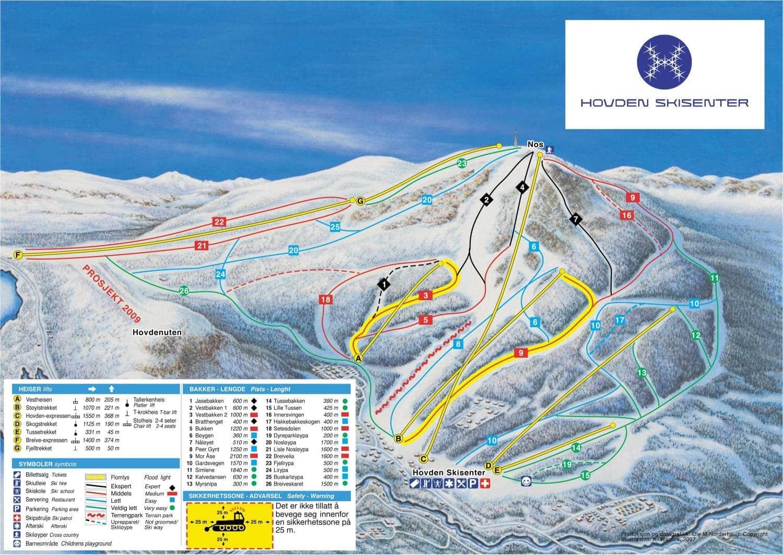 Et overskueligt skiområde, hvor begyndere kan komme rundt over det hele