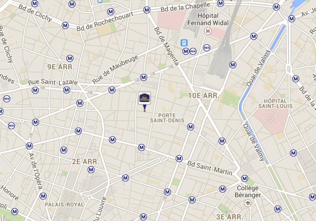 Billigt hotel centralt i Paris