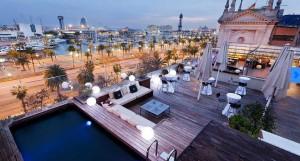 hotel ved strand i barcelona