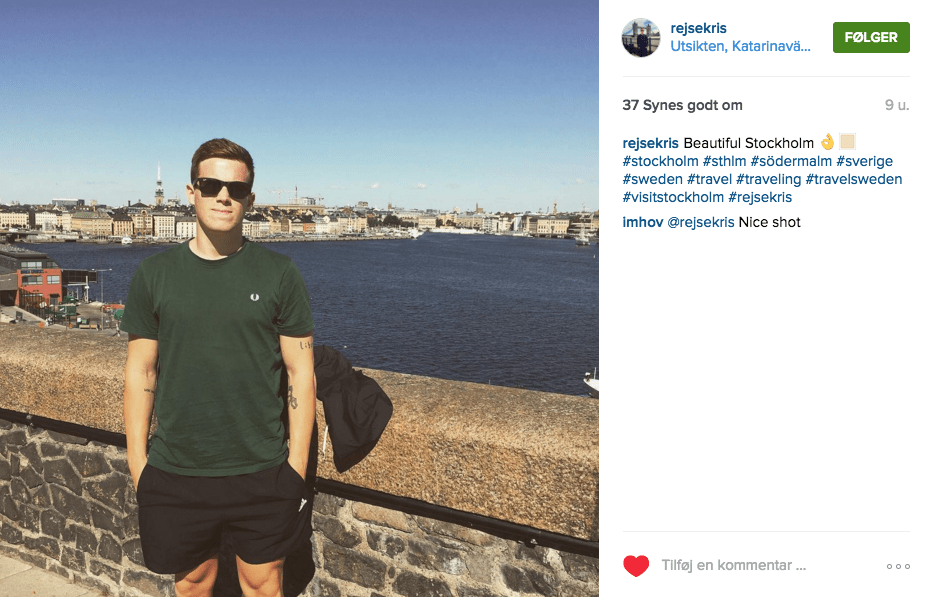 Rejseblog instagram