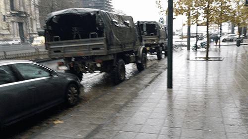 militærbil i belgien