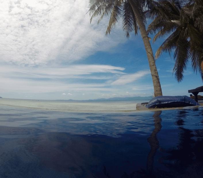 infinity pool hotel koh phangan thailand