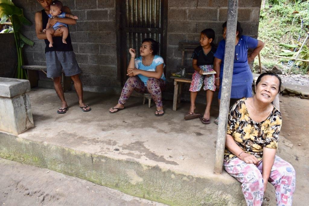 Familie på Bali