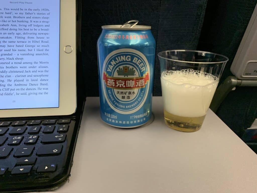air china drikkevarer